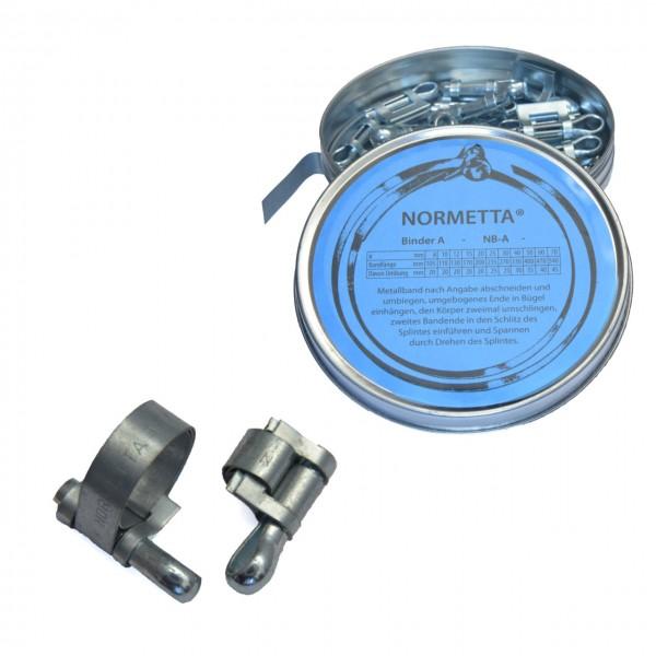 Schlauchschellen Set mit Splint, 5mm Bandbreite, für verschiedene Durchmesser, Stahl verzinkt