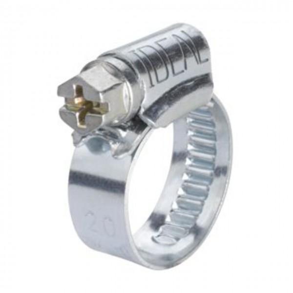 Schlauchschelle mit 016 - 025 mm Spannbereich, 12 mm Bandbreite, W2, DIN 3017-1